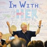 Były Prezydent Bill Clinton Mówi przy Hillary Clinton wiecem, Obrazy Royalty Free