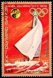 Y.A.R. - CIRCA 1972: ein Stempel, der durch Y.A.R gedruckt wird, zeigt XX Sommer O Lizenzfreie Stockfotografie