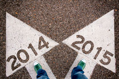 2014 y 2015 sig Foto de archivo