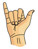 Y-teckenspråk Royaltyfri Foto