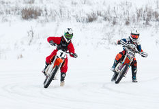Y. Titov (1) and I. Podgornov (999) Royalty Free Stock Photo