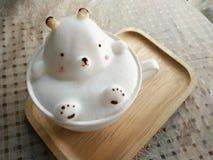 y x27; Bear& x27; arte del latte Fotos de archivo libres de regalías