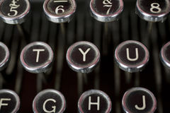 Y for Yes. Old fashioned typewriter keys in a close up shot. The central focus is on the Y - or Yes button, and I also have a N - or No button image available as Royalty Free Stock Images