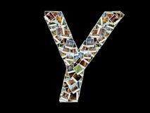 Y-Zeichen - Collage der Reisenfotos Lizenzfreies Stockfoto
