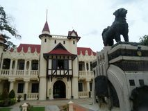 Ya-Lei Monument infront of Chali Mongkol Asana  Throne Royalty Free Stock Photos