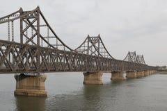 Ya lu river Bridge. Border of China and North Corea Stock Photography