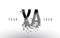 YA Y un logo de lettre de pixel avec les places noires brisées par Digital Image stock