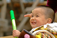 Yaan China-A little lovely boy Royalty Free Stock Image