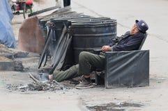 Yaan Kina-Så kan han falla sovande Arkivfoton