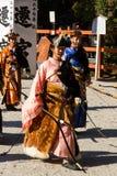 Yabusame -马背射箭在京都,日本 免版税库存照片