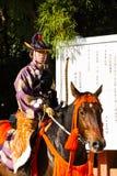 Yabusame - horseback łucznictwo w Kyoto, Japonia Obraz Stock