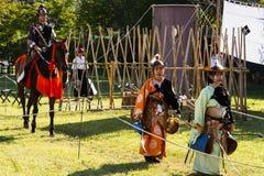 Yabusame - horseback archery in Kyoto, Japan stock photos