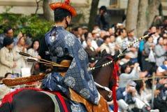 Yabusame monterade bågskytte Royaltyfria Foton