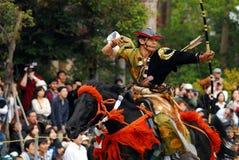 Yabusame mounted archery Royalty Free Stock Images