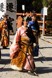 Yabusame - zu Pferde Bogenschießen in Kyoto, Japan lizenzfreies stockfoto