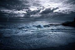 Yacht à la mer Images libres de droits
