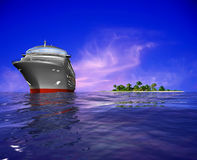 The yacht Royalty Free Stock Photo