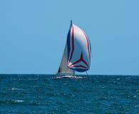 Yacht. Sailing yacht in blue sea. Regatta Royalty Free Stock Photos