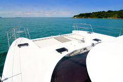 Yacht. Exterior of a luxury yacht at sea royalty free stock photography