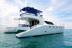 Yacht. Exterior of a luxury yacht stock photography
