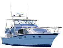 Yacht. Vector illustration of isolated yacht stock illustration