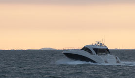 Yacht. On Tampa Bay in morning Stock Photo