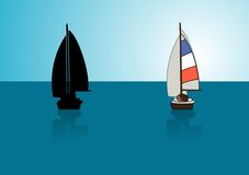 yacht stock illustrationer
