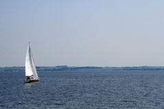 Yacht. Beautiful landscape of Baltic sea royalty free stock photography