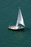 Yacht. Sailing on a calm spring day, lake michigan royalty free stock images