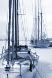Yacht. S in the harbor - winter stock photos