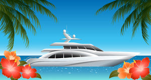 Yacht stock illustrationer