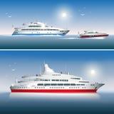 Yacht vektor illustrationer