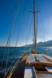 Yacht. Leisure series: yacht journey in the summer sealine Stock Image