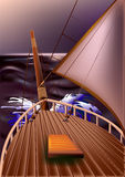 Yacht Arkivbild