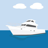 Yacht. Illustration of a modern powerful yacht stock illustration