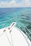 Yacht. Moored at tropical ocean Stock Images