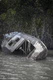 Yacht abbandonato della vela Immagine Stock Libera da Diritti
