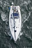 Yacht from Above Stock Image