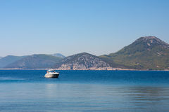 Yacht in Adriatic sea Stock Photos