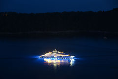 Yacht in Adriatic sea Stock Photography