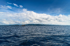 Yacht in Adriatic sea Royalty Free Stock Photography