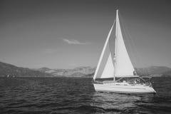 Yacht in Aegean Sea. Fethiye, Mugla, Turkey Stock Image