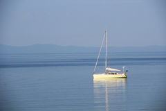 Yacht in the Aegean Sea Royalty Free Stock Image