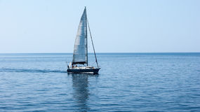 The yacht in the Aegean sea Royalty Free Stock Photography