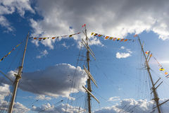 The yacht against sky und clouds Stock Photo