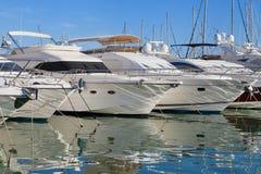 Yacht al porticciolo di Cambrils Fotografie Stock
