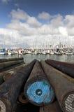 Yacht al porticciolo di Westhaven Fotografia Stock Libera da Diritti