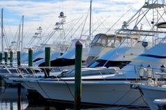 Yacht al porticciolo, Florida Fotografia Stock Libera da Diritti
