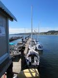 Yacht al porto Fotografia Stock