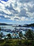yacht al porto Immagini Stock Libere da Diritti